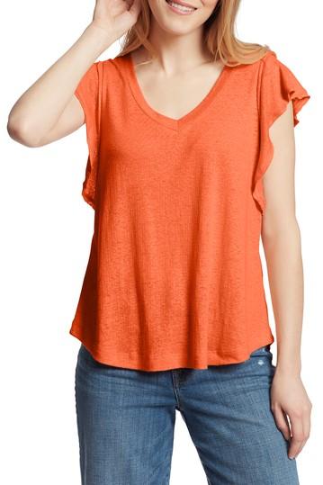 Рубашка из смесового льна с развевающимися рукавами Gemma Ella Moss