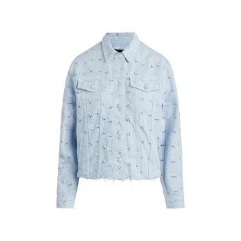 Джинсовая куртка бойфренда с прорезями Joe's Jeans