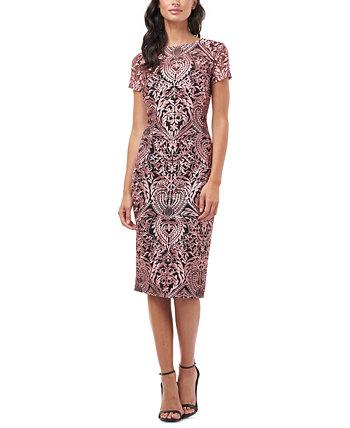 Коктейльное платье с коротким рукавом JS Collections