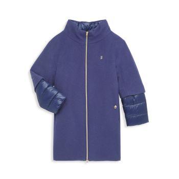 Girl's Down & amp; Шерстяное пальто HERNO