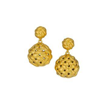 Серьги-капельки с покрытием из желтого золота Bali 22 карат DEAN DAVIDSON