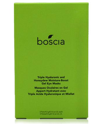 Гелевая маска для глаз с тройной гиалуроновой кислотой и увлажняющей росой Boscia
