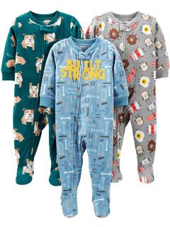 Огнестойкие флисовые пижамы свободного кроя свободного кроя из 3 предметов (для малышей) Simple Joys by Carter's