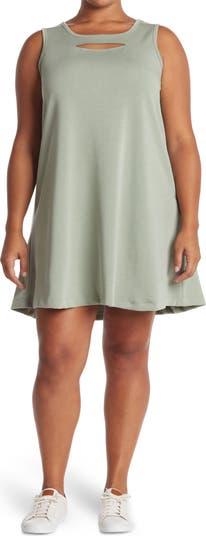 Cutout Sleeveless Trapeze Dress Spense