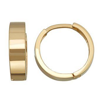 14k Gold Huggie Hoop Earrings Unbranded