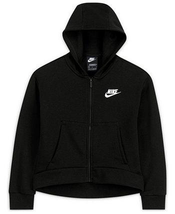Big Girls Sportswear Club Fleece Full-Zip Hoodie Nike