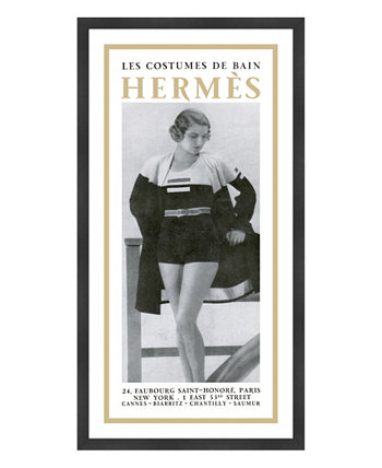 "Картины Les Costumes De Bain Hermes в рамке Giclee - 23 ""x 43"" x 2 "" Melissa Van Hise"