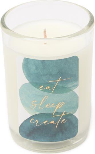 4-дюймовая свеча Mini - Eat Sleep Create Zodax