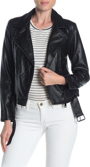 Мотоциклетная куртка из искусственной кожи Elodie
