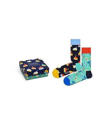 Мужские носки с подарками на день рождения, 2 шт. В упаковке Happy Socks