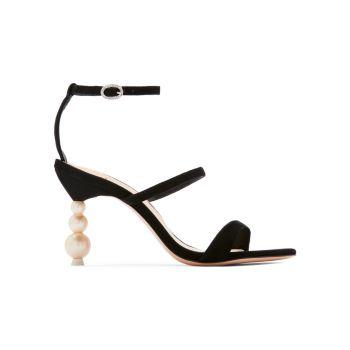 Замшевые босоножки Rosalind на жемчужном каблуке Sophia Webster
