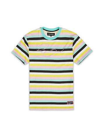 Мужская футболка с волнистыми полосками Big & Tall Reason