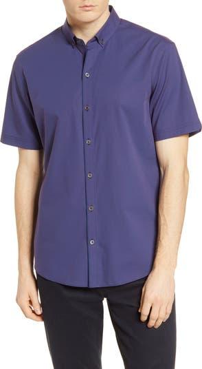 Рубашка добби классического кроя с короткими рукавами на пуговицах Zachary Prell