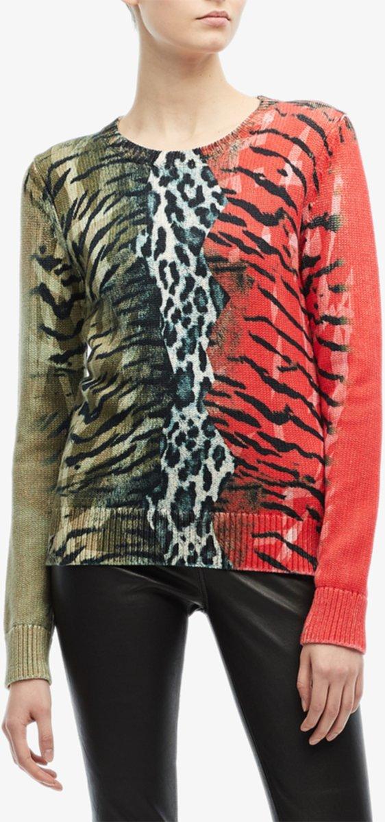 Гибридный леопардовый свитер Neil Barrett