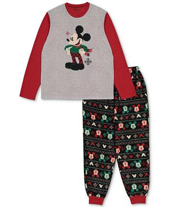 Подходящий мужской праздничный семейный пижамный комплект с Микки и Минни Briefly Stated