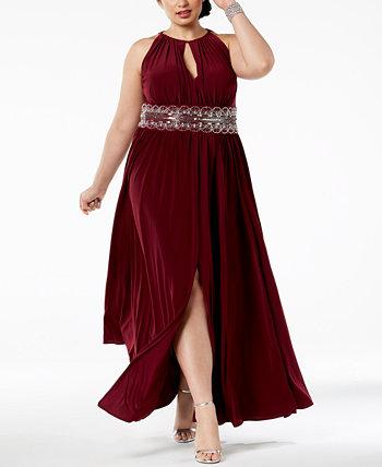 R & M Richards Плюс Размер Платье без Рукавов с Бисерами R & M Richards