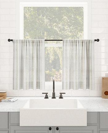 """Пылезащитная прозрачная занавеска для кафе в стиле ретро в полоску, 50 """"x 36"""" Clean Window"""
