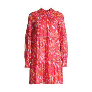 Мини-платье Groovy Swirl MICHAEL Michael Kors