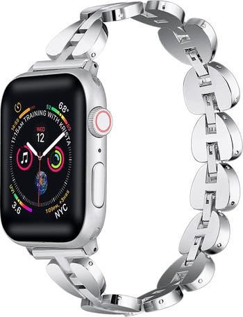 Сменный ремешок для Apple Watch с гладким металлическим звеном - 42 мм / 44 мм POSH TECH