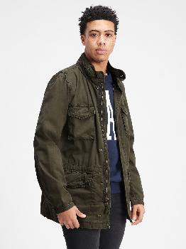 Куртка в стиле милитари со скрытым капюшоном Gap Factory