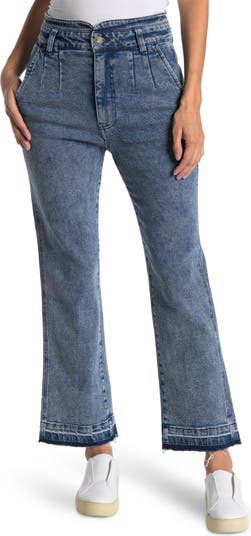 High Rise Pleated Boot Cut Jeans FAHERTY BRAND
