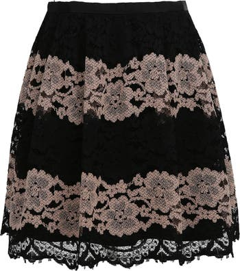 Two-Tone Lace Mini Skirt FRNCH