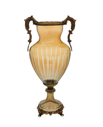 Янтарный кристалл и латунная ваза Classic Touch