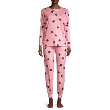 Пижамный комплект из 2 предметов с принтом тай-дай STELLAH