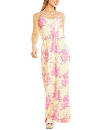 Макси-платье с цветочным принтом Quiz