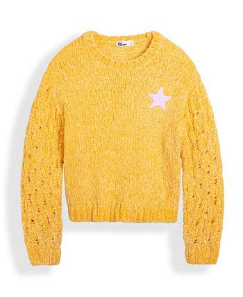 Big Girls Flip Sequin Star Sweater Epic Threads
