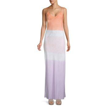 Макси-платье-комбинация с принтом тай-дай DANNIJO