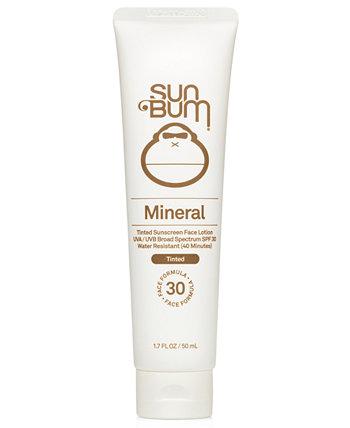 Минеральный тонированный солнцезащитный лосьон для лица SPF 30 Sun Bum