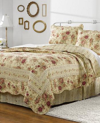 Комплект антикварного лоскутного одеяла, двухкомпонентный твин Greenland Home Fashions