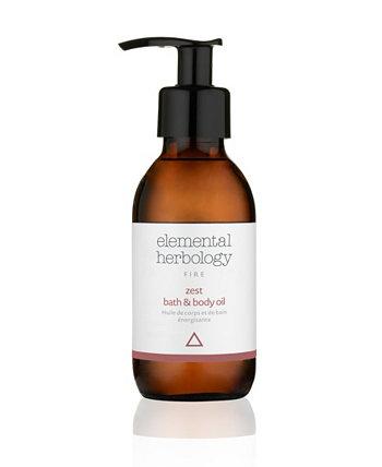 Масло для тела Zest Bath Body Oil, 5 жидких унций Elemental Herbology