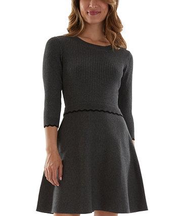 Платье-свитер для юниоров с зубчатой отделкой BCX