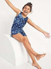 Пижамный комбинезон из джерси без рукавов для девочек Old Navy