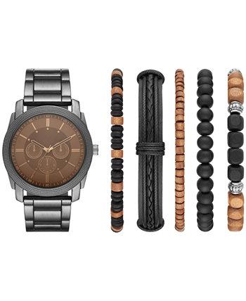 Мужские часы и браслеты с браслетом из бронзы, подарочный набор, 45 мм Folio