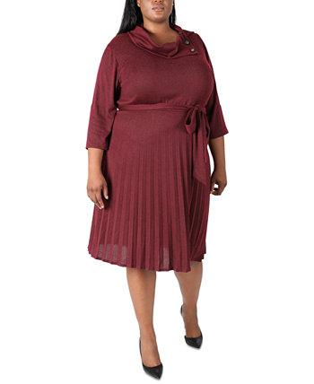 Трикотажное платье больших размеров с хомутом Robbie Bee