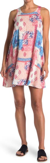 Свободное платье с принтом в стиле пэчворк THREADS & STATES THREADS AND STATES