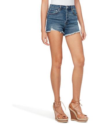 Infinite High-Waist Denim Shorts Jessica Simpson