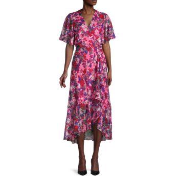 Платье Blaire с цветочным принтом Tanya Taylor