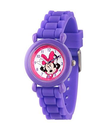Фиолетовые пластиковые часы для девочек Disney Minnie Mouse Ewatchfactory