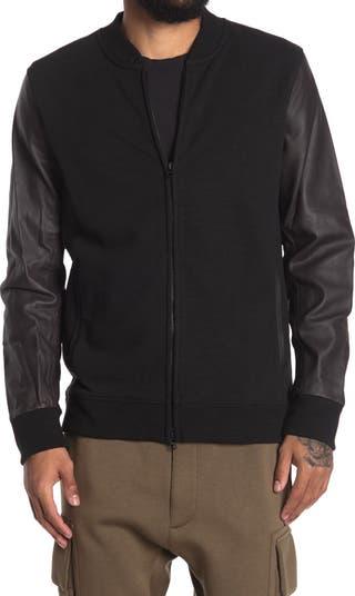 Куртка-бомбер Charles с кожаными рукавами JASON SCOTT