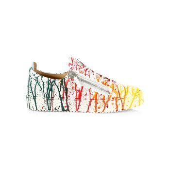 Кожаные кроссовки Sport Nero Rainbow Splatter Giuseppe Zanotti