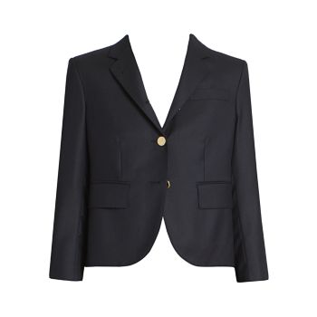 Классическая укороченная шерстяная куртка THOM BROWNE