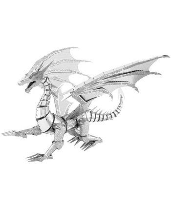 ICONX 3D Metal Model Kit - Серебряный дракон Fascinations