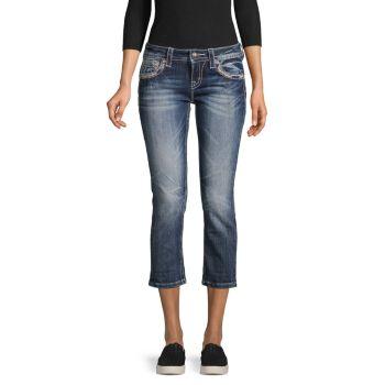 Укороченные джинсы с украшением Miss Me