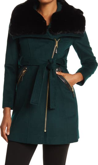 Пальто Kate с ассиметричным поясом Via Spiga