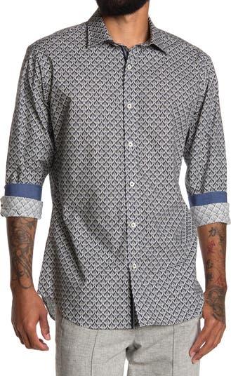 Спортивная рубашка с геометрическим принтом BUGATCHI