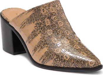Мюли на блочном каблуке с тиснением под кожу крокодила Sagrantino Kaanas